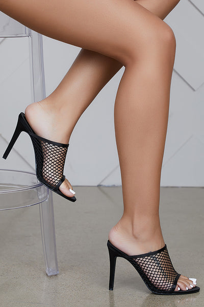Rebel Net Mules (Black)- FINAL SALE