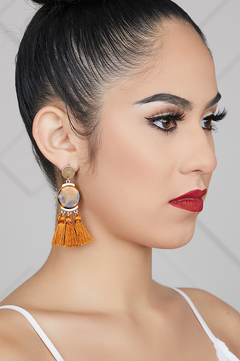 Tassel Charm Earrings