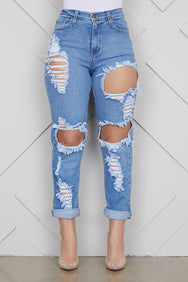 Mom Distressed Jeans