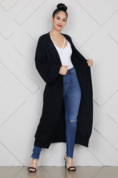 Cozy Up Cardigan (Black)