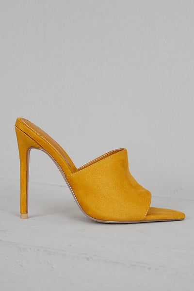 Cece Pointed Toe Mule (Mustard)- PREORDER SHIP NOVEMBER 15TH