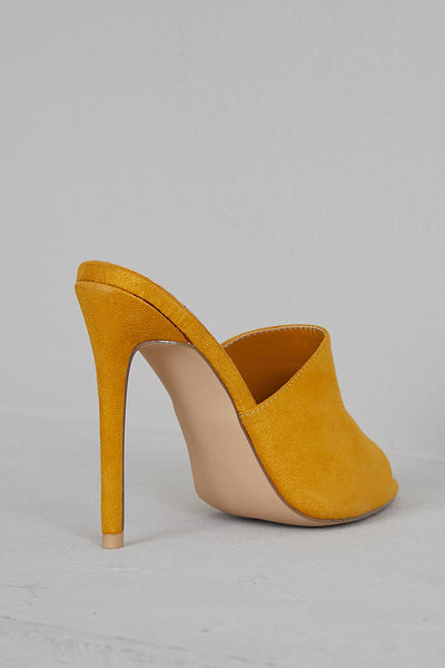 Cece Pointed Toe Mule (Mustard)- FINAL SALE
