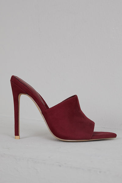 Cece Pointed Toe Mule (Wine)- FINAL SALE