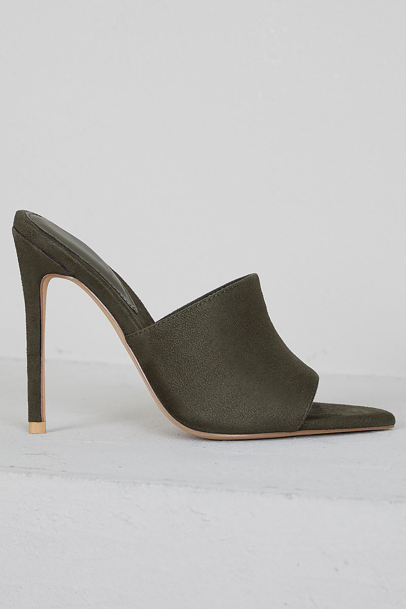 Cece Pointed Toe Mule (Olive)- FINAL SALE