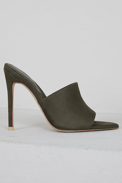 Cece Pointed Toe Mule (Olive)