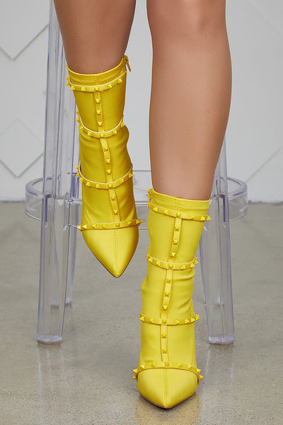 Baylee Studded Bootie (Yellow) PREORDER SHIPS NOV. 20th