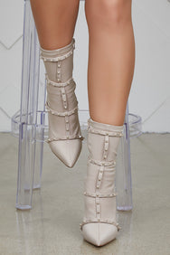 Baylee Studded Bootie (Taupe)