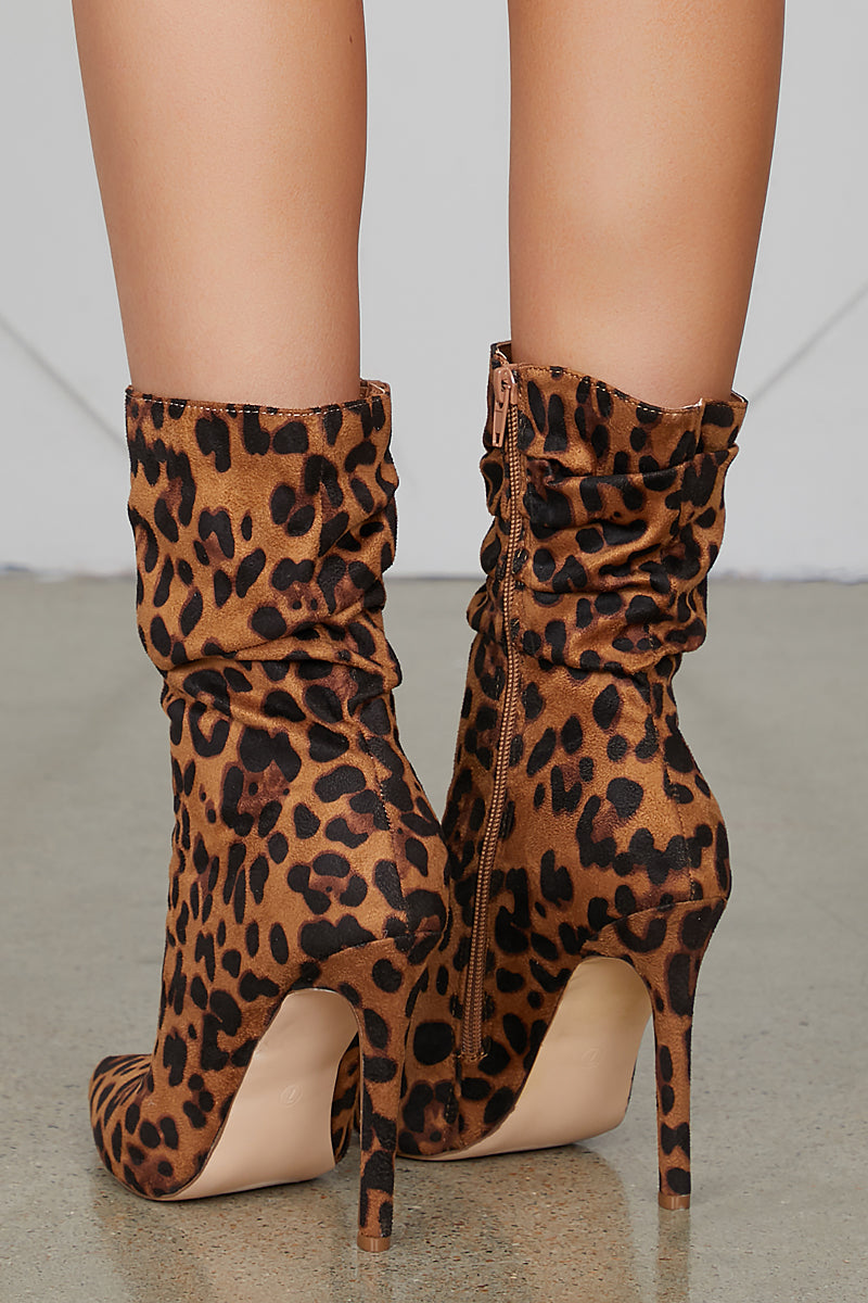 Liana Leopard Booties- FINAL SALE