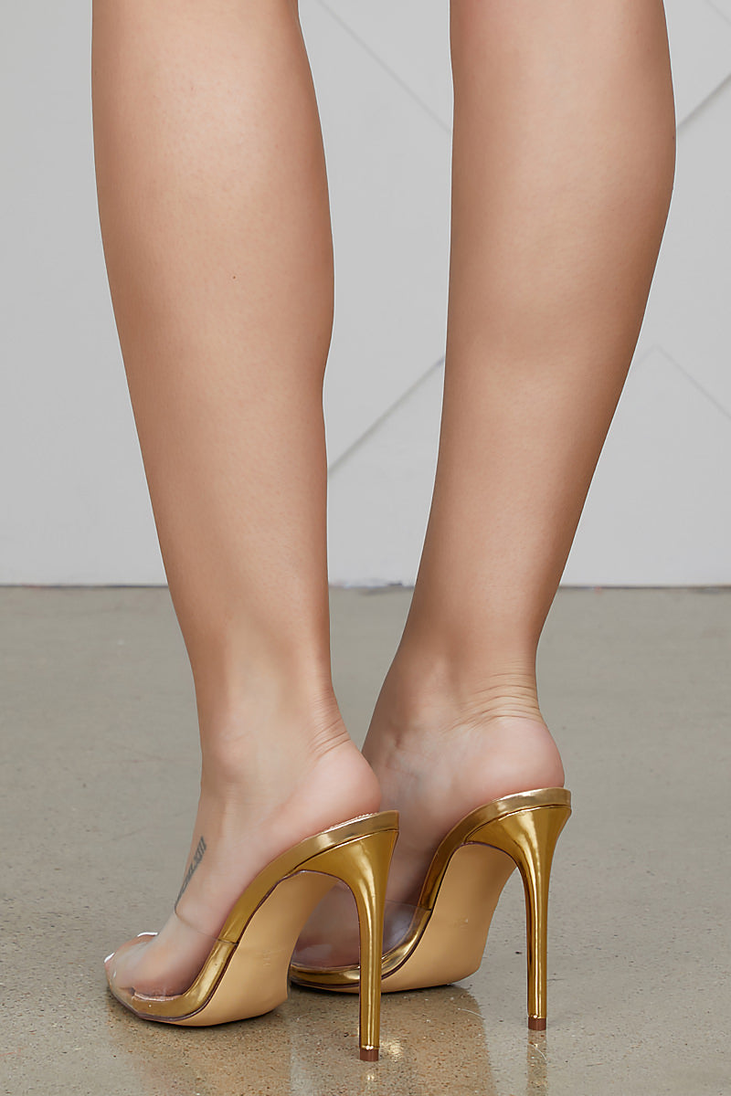 Laurent Transparent Mule (GOLD)