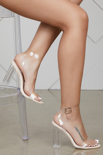 Transparent Clear Heel