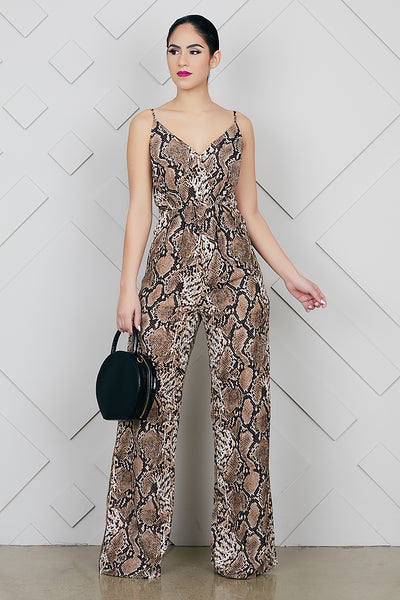 Snakeskin Jumpsuit- FINAL SALE