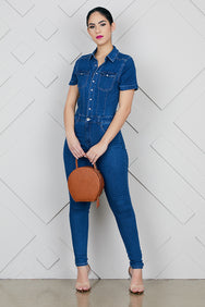 Denim Jumpsuit (Dark Wash)