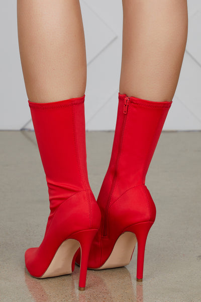 Maybel Booties (Red)- FINAL SALE