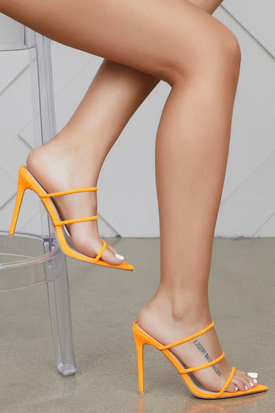 Encore Strappy Mule (Orange)