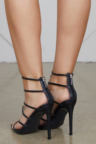 Friday Caged Heels (Black)