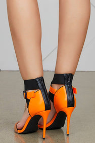Supreme Buckle Heel (Orange)-FINAL SALE