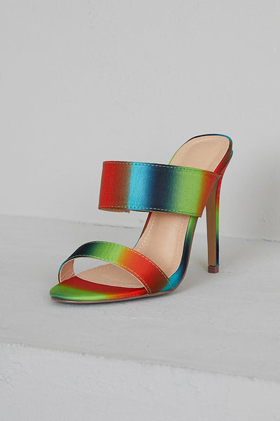 Sunset Multi Color Mules- FINAL SALE