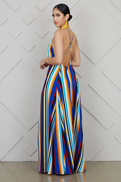 Twirl Stripe Maxi Dress