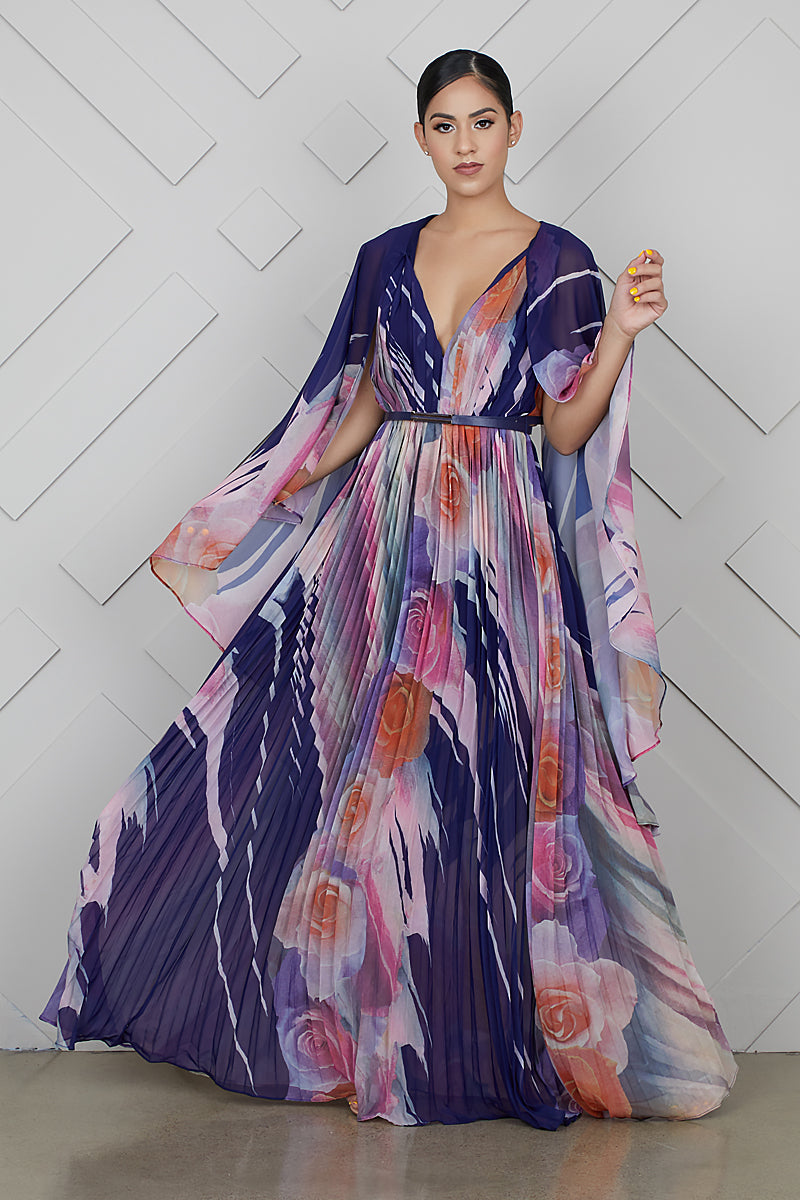 Bring The Drama Floral Maxi Dress- FINAL SALE