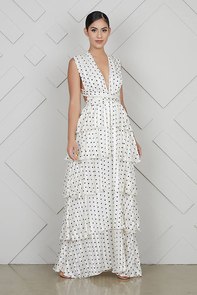 Let It Flow Polka Dot Maxi Dress