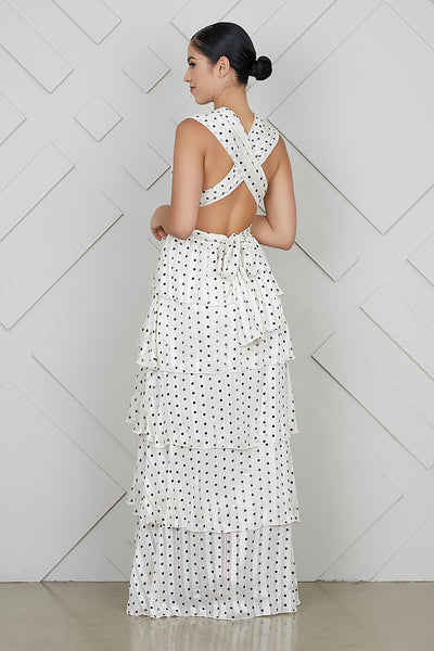 Let It Flow Polka Dot Maxi Dress- FINAL SALE