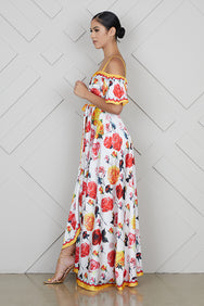 Rose Bud High Split Maxi Dress