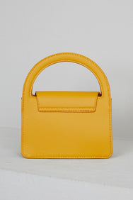Mustard Top Handle Mini Bag