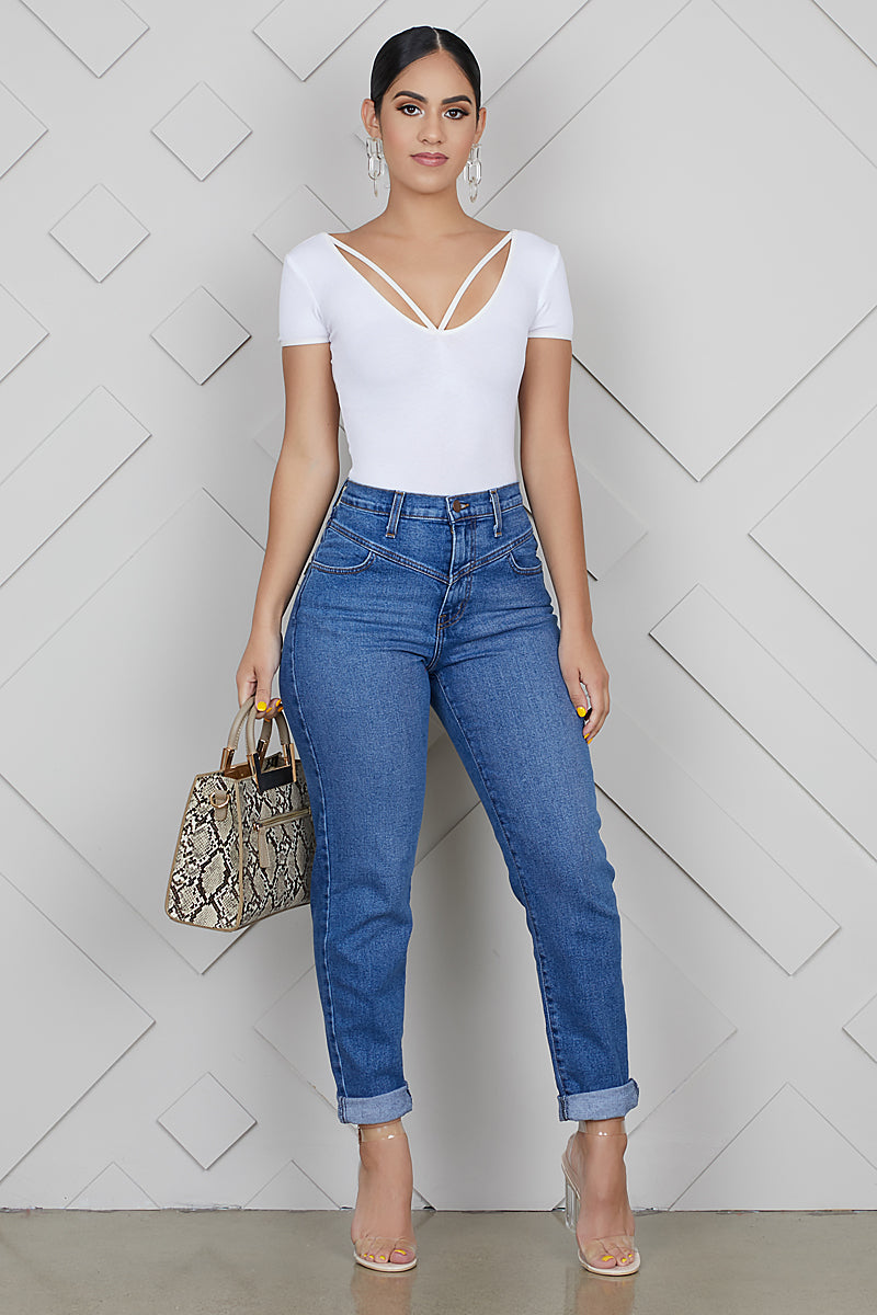 Back To The 80s Mom Jeans- FINAL SALE