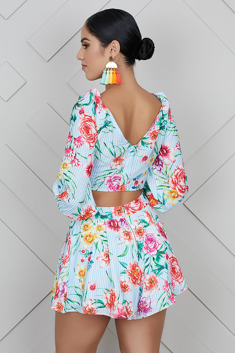 Floral Day Party Short Set