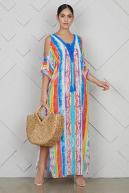 Watercolor Kaftan Dress