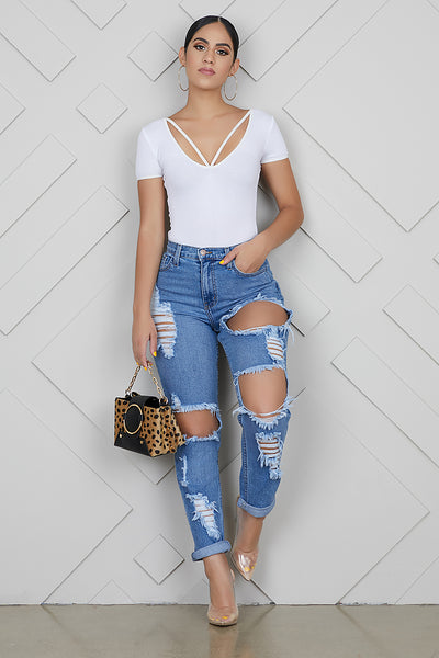 Rip It High Waist Boyfriend Jeans
