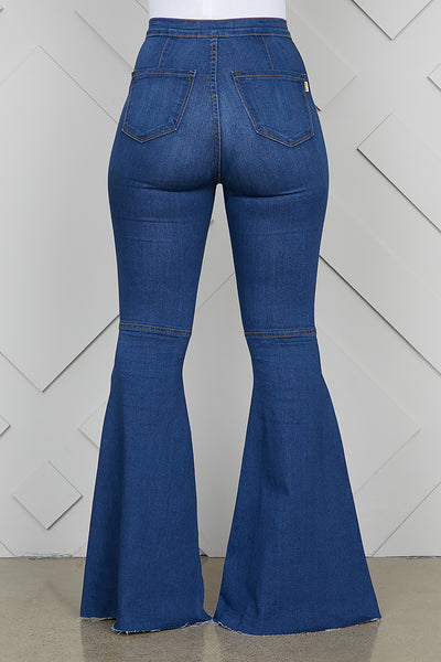 High Waist Super Wide Leg Jeans
