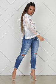 Bell Sleeve Lace Top- PREORDER ONLY SHIPS JUNE 14TH