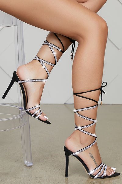 Hoffman Rhinestone Strappy Heels- PREORDER ONLY SHIPS MAY 27TH