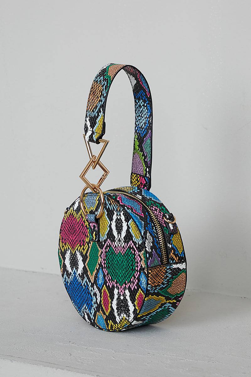 Multi Snake Skin Circle Bag- FINAL SALE