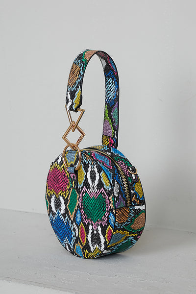 Multi Snake Skin Circle Bag- PREORDER ONLY SHIPS 11/20