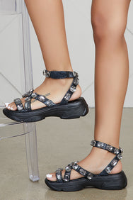 Jewel Sandals (Black) - FINAL SALE