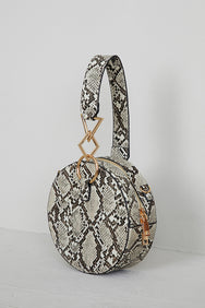 Shape Up Circle Bag (Brown Snake)