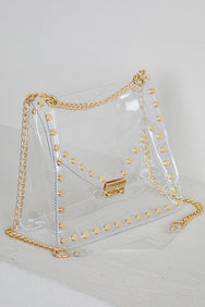 Clear Bag With Gold Studs