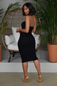 Tube Top Knit Dress (Black)- FINAL SALE