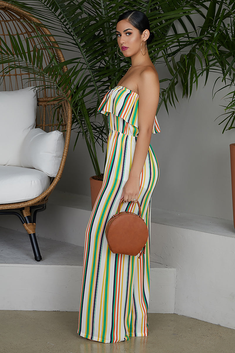 Stripe Just Right Jumpsuit- FINAL SALE