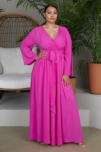 Fuchsia Maxi Dress - FINAL SALE