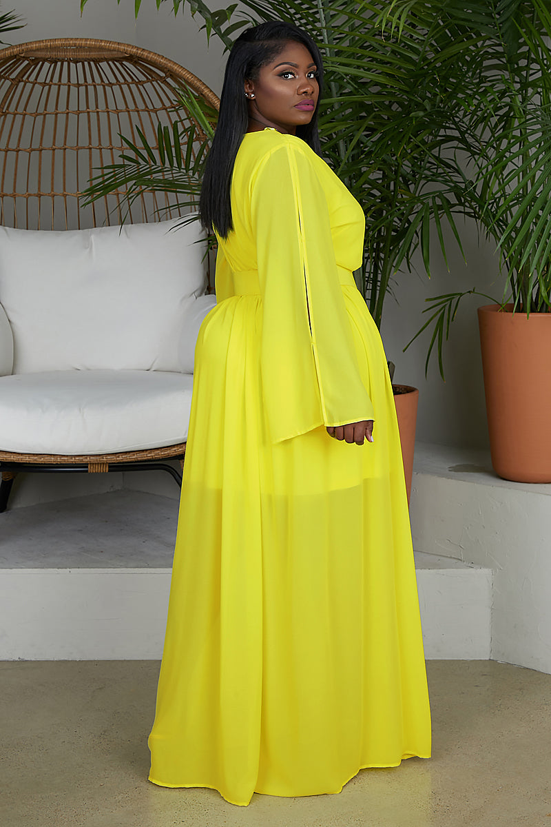 Fun In The Sun Yellow Maxi Dress
