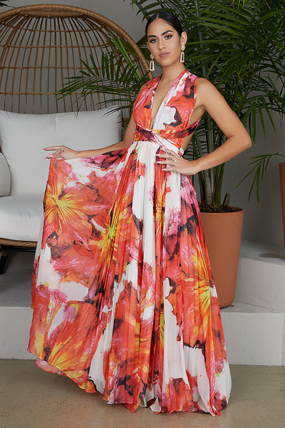 Summer Passion Floral Maxi Dress