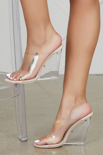 Transparent Wedge Heels (Nude) - FINAL SALE