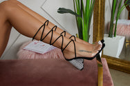 Backstage Lace Up Block Heel