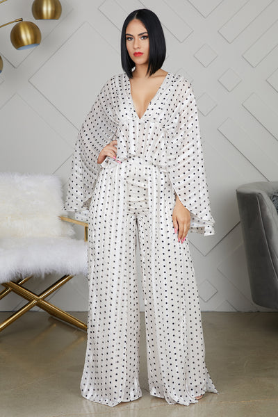Polka Pants Set
