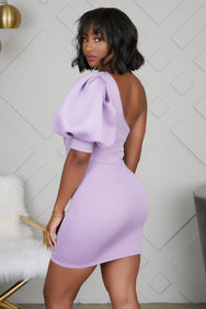 One Shoulder Party Dress (Purple) - FINAL SALE