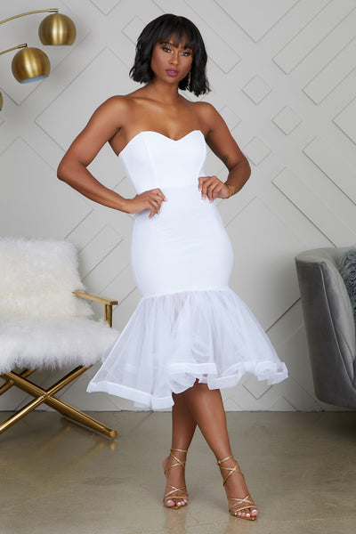 Tulle Midi Dress (Ivory)- PREORDER ONLY SHIPS AUGUST 7TH