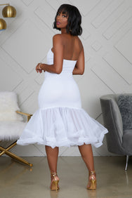 Tulle Midi Dress (Ivory) - FINAL SALE